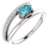 Accented Bypass Ring