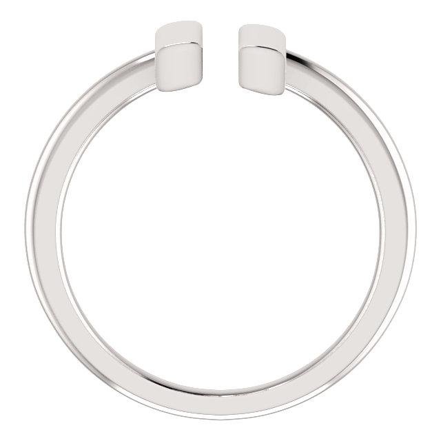 14K White Vertical Bar Ring