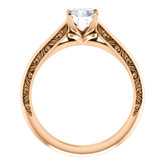 Sculptural-Inspired Solitaire Engagement Ring or Band