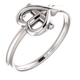 Cross with Heart Youth Ring