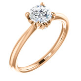 Vintage-Inspired Solitaire Engagement Ring or Band