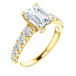 Accented Engagement Ring