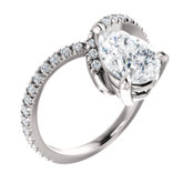 French-Set Engagement Ring or Band