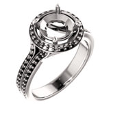 Halo-Style Split Shank Ring