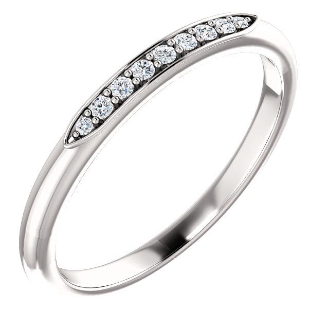 14K White .07 CTW Diamond Matching Band