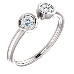 Two-Stone Bezel Set Ring
