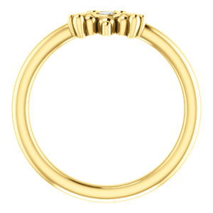 14K Yellow .03 CTW Diamond Youth Bee Ring