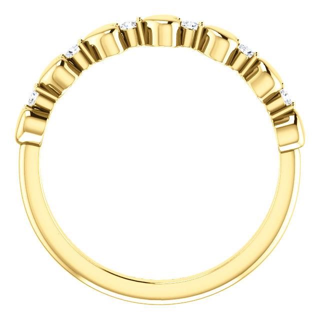 14K Yellow 1/10 CTW Diamond Stackable Heart Ring