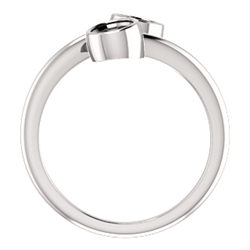 Two-Stone Bezel-Set Engagement Ring