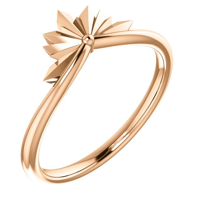14K Rose Starburst Ring