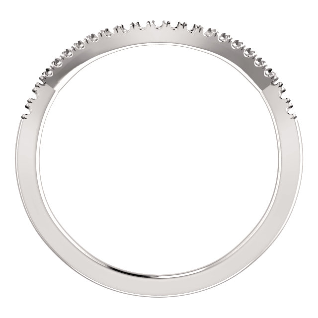 14K White Band Mounting for 4.25 mm Round Ring