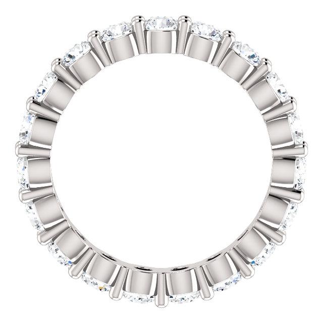 14K White 1 9/10 CTW Diamond Eternity Band Size 5.5
