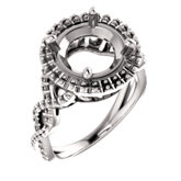 Infinity-Inspired Halo-Style Engagement Ring