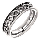 Accented Infinity-Inspired Wedding Band