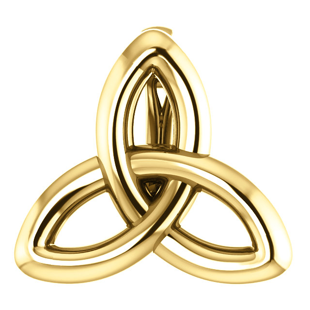 14K Yellow Celtic-Inspired Trinity Pendant