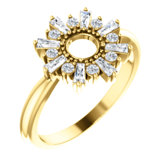 Accented Circle Ring