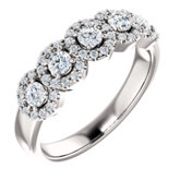 Five-Stone Halo-Style Engagement Ring