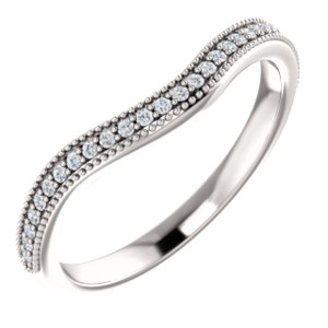 14k White 1 8 Ctw Diamond Band