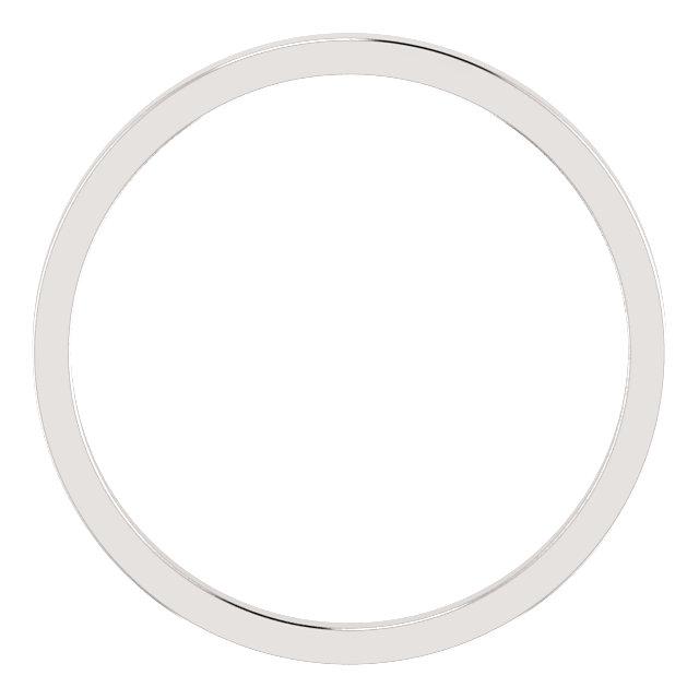 14K White 1.5 mm Flat Band Size 5