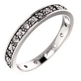 Floral-Inspired Eternity Band