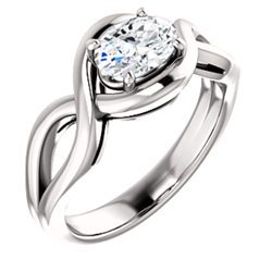 Twist Solitaire Ring
