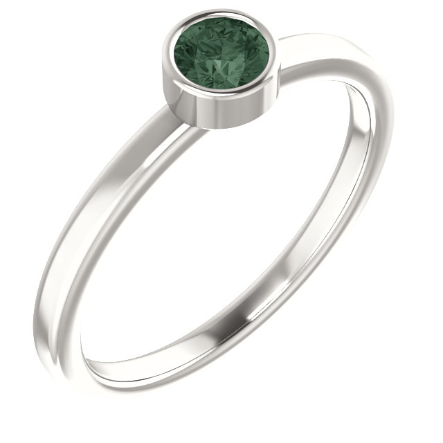 Sterling Silver Imitation Alexandrite Ring