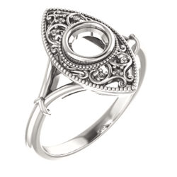 Vintage-Inspired Bezel-Set Ring