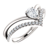 Charles & Colvard Moissanite® & Diamond Accented Negative Space