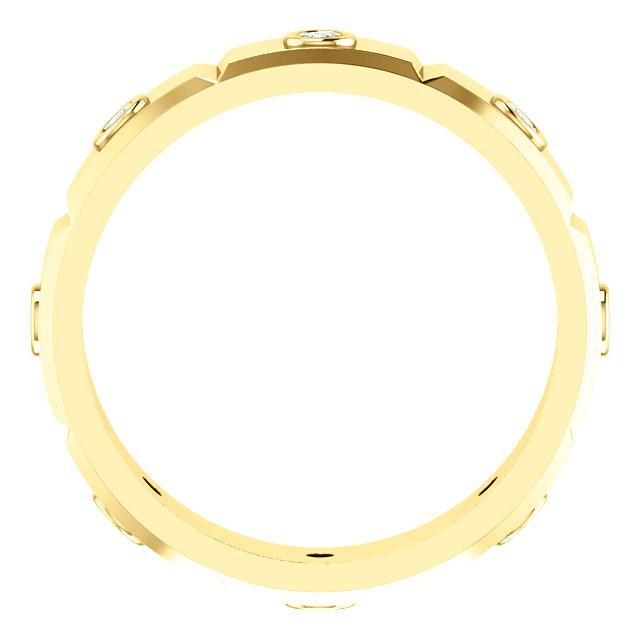 14K Yellow 1/4 CTW Mens Diamond Ring Size 10