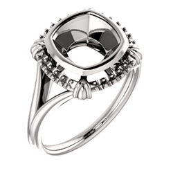 Halo-Style Bezel-Set Ring
