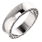 Infinity-Inspired Wedding Band