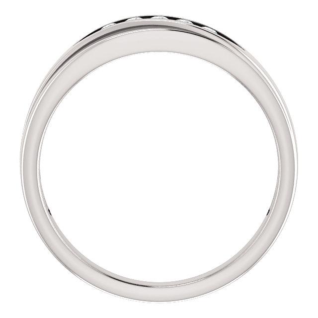 14K White 1/6 CTW Diamond 5-Stone Band