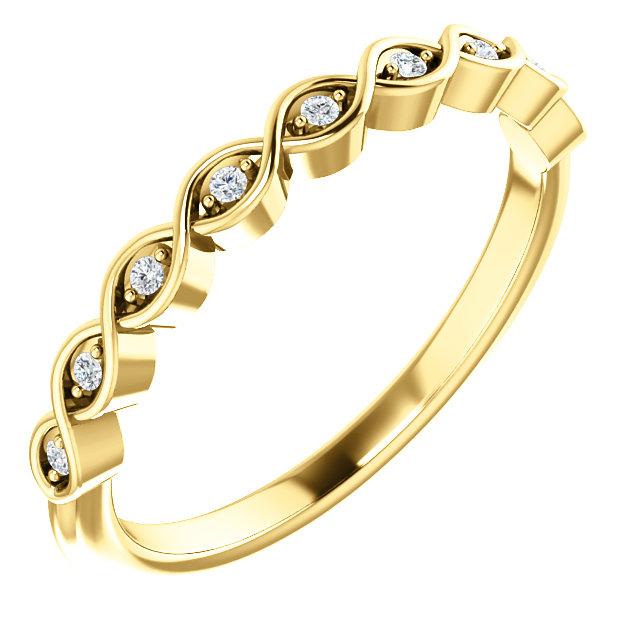 14K Yellow .05 CTW Diamond Matching Band