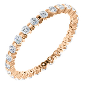 14K Rose 1/2 CTW Diamond Eternity Band