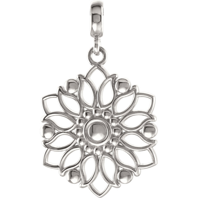 Sterling Silver Decorative Pendant