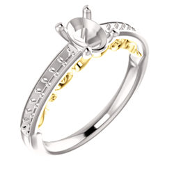 Infinity-Inspired Engagement Ring