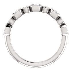 Bezel Set Anniversary Band