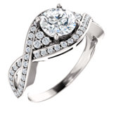 Twist Pavé Engagement Ring or Band