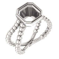 Beaded Bezel-Set Ring