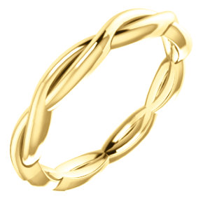 14K Yellow Infinity-Inspired Band Size 5