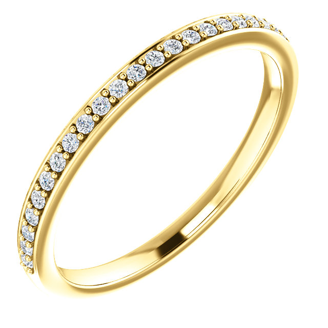 14K Yellow 1/8 CTW Diamond Matching Band
