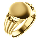 Men's Oval Signet Ring