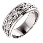 Sculptural-Inspired Wedding Band