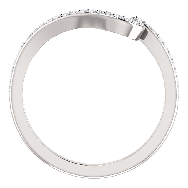 14K White 1/6 CTW Diamond Band for 4.4mm Round & 5.2mm Round Engagement Ring