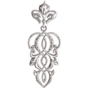 Sterling Silver Decorative Dangle Pendant