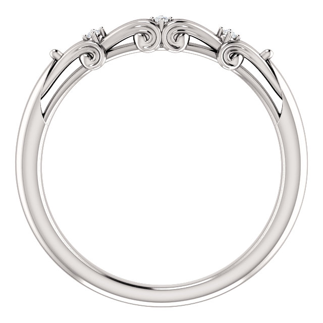 14K White .015 CTW Diamond Matching Band