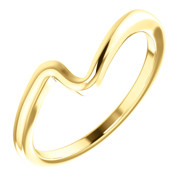 14K Yellow Band for 5.2 mm Round Engagement Ring