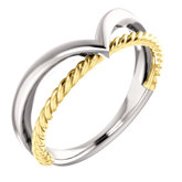 Negative Space Rope Ring