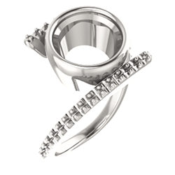 Accented Bezel-Set Ring