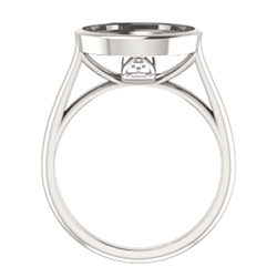 Bezel Set Solitaire Engagement Ring